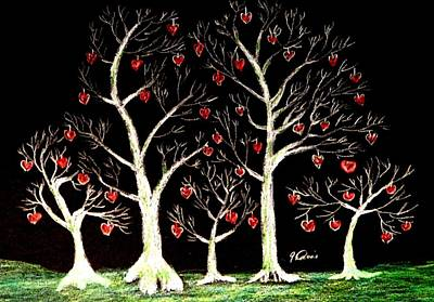 The Valentine Forest Art Print
