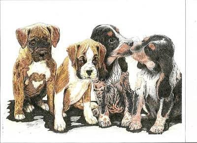 Drawing - Pick Of The Litter by Bill Hubbard