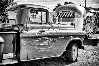 Photograph - Pick Up And Airstream by Tim Gainey
