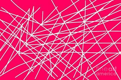 Expressionism Digital Art Drawing - Pick-up Sticks by Shanhan Truitt-Roos