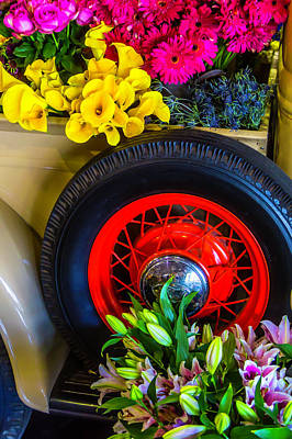 Pick Up Truck Photograph - Pick Up With Flowers by Garry Gay