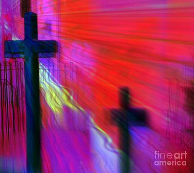Believers Mixed Media - Pick Up Your Cross by Fania Simon
