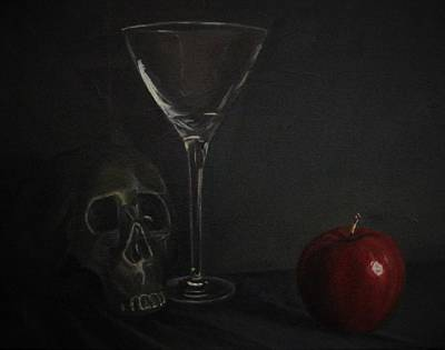 Apple Martini Painting - Pick Your Poison by Margaret Marzullo