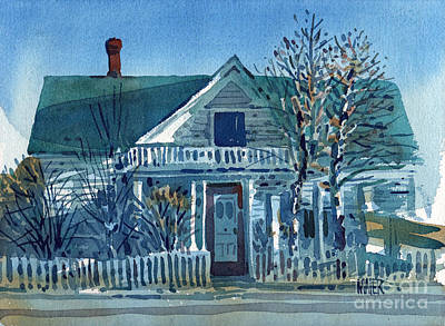 Picket Fence Painting - Picket Fence by Donald Maier