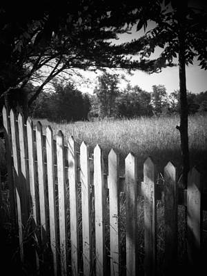 Picket Fence Landscape Art Print by Michael L Kimble