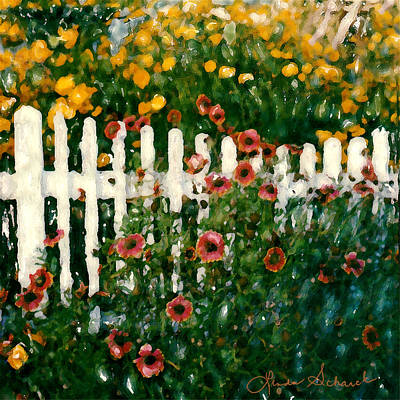 Picket Fence Art Print by Linda Scharck