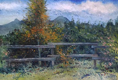 Painting - Picket Fence Near Heidelberg Western Cape South Africa by Enver Larney