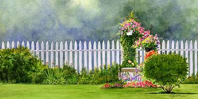 Painting - Pickets And Flowers by Phyllis Martino