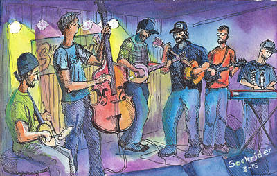 Phish Painting - Pickin On Phish At Barkleys by David Sockrider