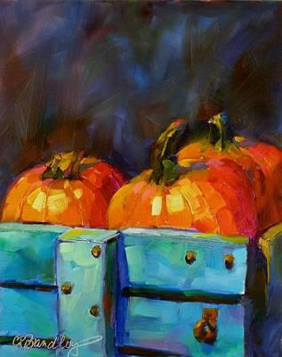 Painting - Pickin' Pumpkins by Chris Brandley