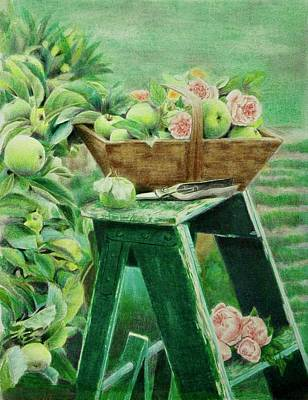 Picking Apples Art Print