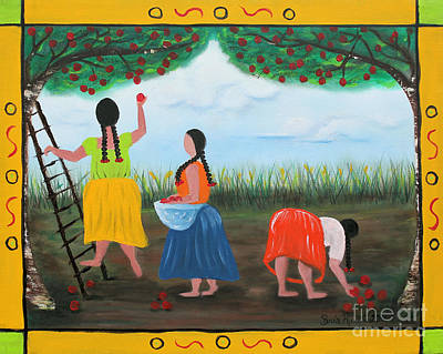 Painting - Picking Apples by Sonia Flores Ruiz