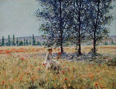 Painting - Picking Flowers  by Pierre Van Dijk