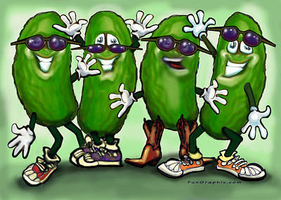 Pickle Party Art Print by Kevin Middleton