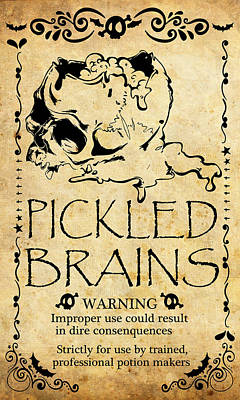 Human Brain Mixed Media - Pickled Brains by Long Shot