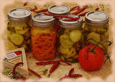 Photograph - Pickled Still Life by Lori Kingston
