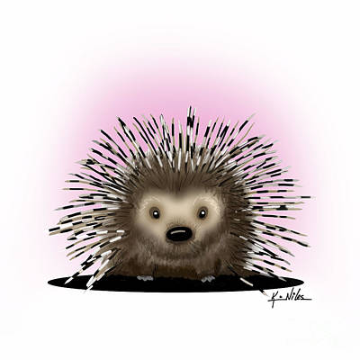 Digital Art - Pickles The Porcupine by Kim Niles