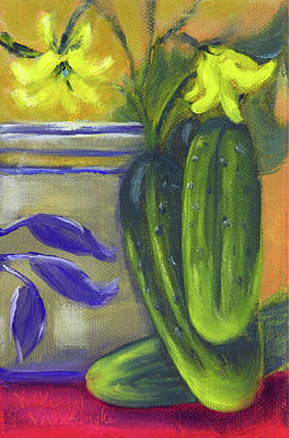 Painting - Pickling Cucumbers  by Vicki VanDeBerghe