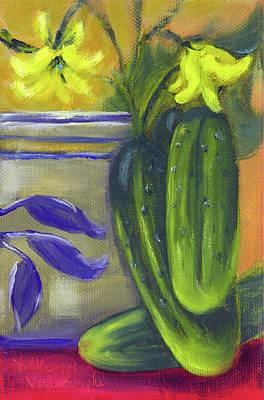 Painting - Pickling Cucumbers Seed Packet by Vicki VanDeBerghe
