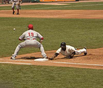 Pickoff Move To 1st Base Original by Mark Hendrickson