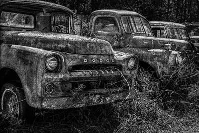 Photograph - Pickup Line Bw by Randy Walton