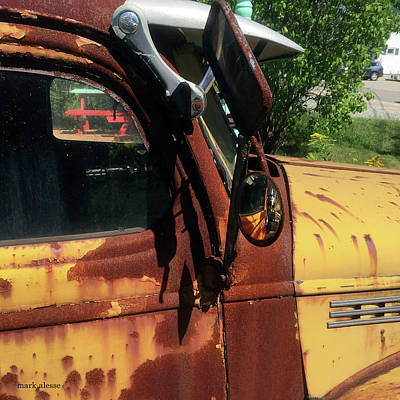 Photograph - Pickup Mirror by Mark Alesse