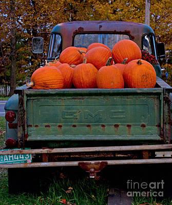 Photograph - Pickup My Pumpkins by April Bielefeldt
