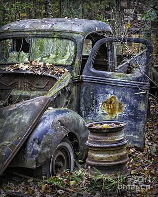 Photograph - Old Blue Pickup Truck by Walt Foegelle