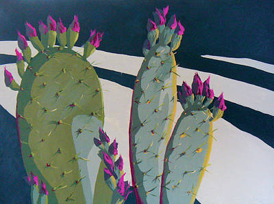 Prickly Pear Painting - Picky Picky Picky Too by Sandy Tracey