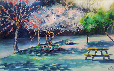 West Fork Painting - Picnic Area by Julie Morrison