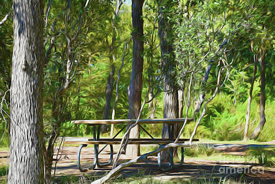 Photograph - Picnic Area - Mckinney Falls State Park 18-41 by Ray Shrewsberry