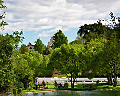 Winery Digital Art - Picnic At Bridlewood by Patricia Stalter