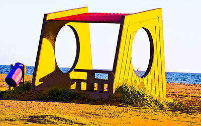 Photograph - Picnic Cabana Pop Art by Tony Grider