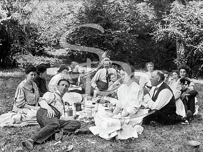 Photograph - Picnic In Butler's Cove 1905-10 by Mary Rowland Mires
