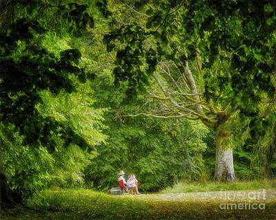 Digital Art - Picnic In The Park by Edmund Nagele