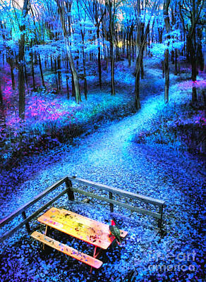 Digital Art - Picnic In The Woods by Gina Signore