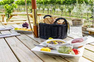 Photograph - Picnic In Vineyard by Patricia Hofmeester