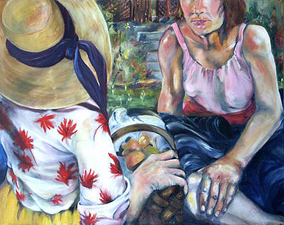 Art Print featuring the painting Picnic by Nadine Dennis
