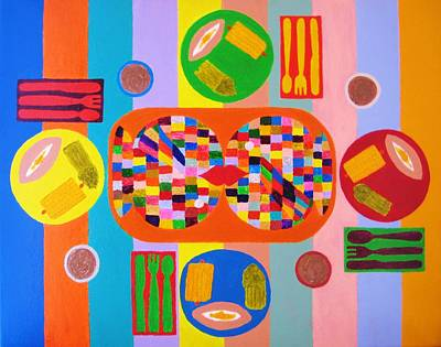 Picnic Number One Art Print by Ricky Gagnon