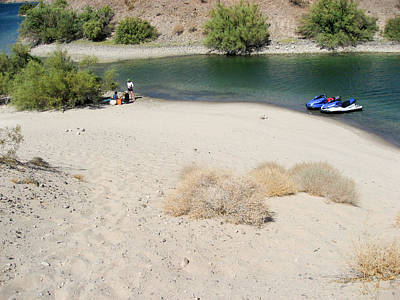 Photograph - Picnic On Lake Mohave by Julie Niemela