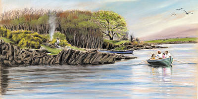 Painting - Picnic On The Lake by Vanda Luddy