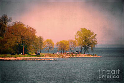 Photograph - Picnic On The Point - Lake Michigan by Mary Machare