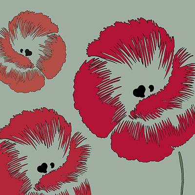 Picnic Poppy Art Print by Sarah Hough
