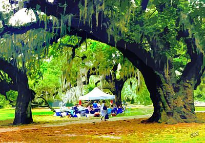 Painting - Picnic Under The Oaks by CHAZ Daugherty
