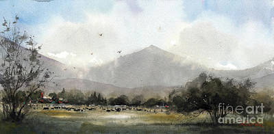 Painting - Pico Azul Ranch by Tim Oliver