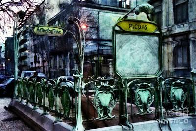 Metro Art Mixed Media - Picoas by Dariusz Gudowicz