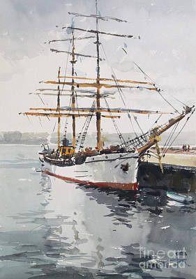 Wall Art - Painting - Picton Castle Tall Ship by Tony Belobrajdic