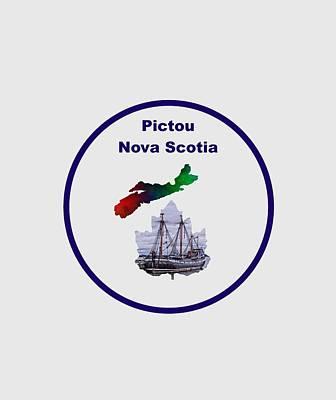 Province Mixed Media - Pictou Nova Scotia Design by Kathleen Sartoris
