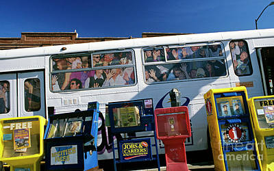 Picture Ad Of Over Crowded Bus  Art Print