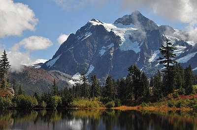 Photograph - Picture Lake And Mount Shuksan by Lynn Bawden